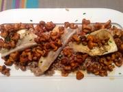 Zander auf Pilz - Risotto