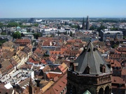 Blick von der Kathedrale auf Strassburg