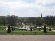 Das Schloss Sanssouci mit seinen ehem. Weinbergterrassen