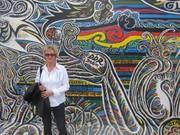Zu DDR-Zeiten war die Mauer grau und weiß