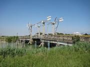 Eine Brücke , hochschwenkbar gebaut