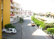 Blick vom Balkon unserer Wohnung