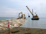 Unser Strand wird erweitert